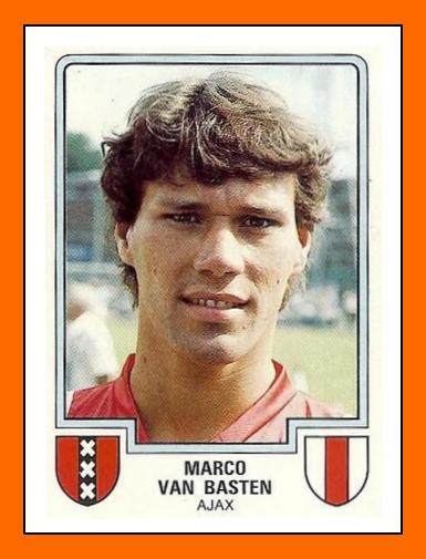 Marco Van BASTEN Panini Ajax Amsterdam 1986
